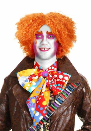 Deluxe Orange Mad Hatter Wig