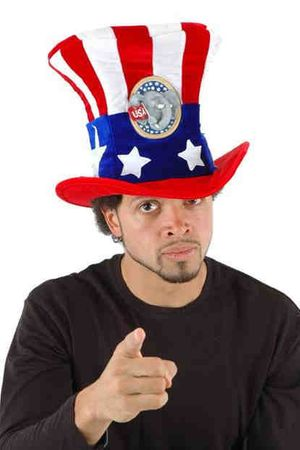 Deluxe Republican Uncle Sam Hat