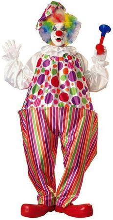 Deluxe Snazzy Clown Costume