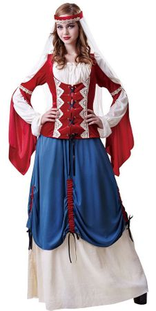 Deluxe Women's Medieval Forest Wench Costume