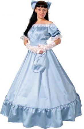 Deluxe Women's Pastel Blue Southern Belle Costume