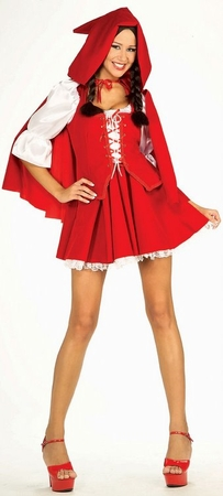 Deluxe Women's Red Riding Hood Costume, Size S/M
