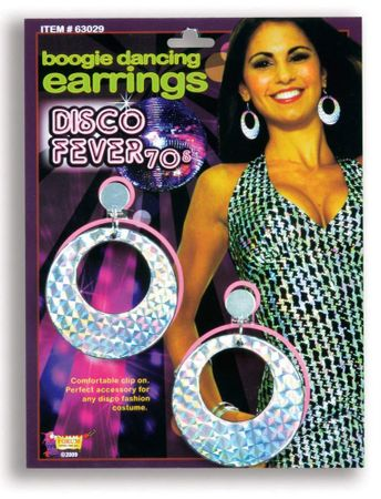 Disco Boogie Holographic Earrings