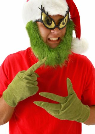 Dr. Seuss Grinch Gloves