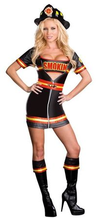 Dreamgirl Smokin' Hot Firefighter Adult Costume, Size Large