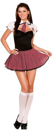 Dreamgirl Straight A Student Schoolgirl Costume, Size XS