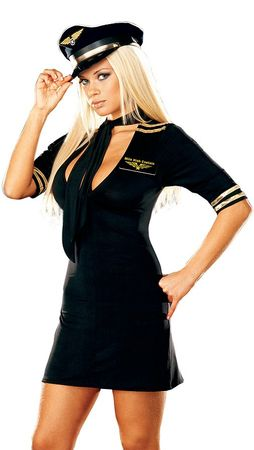 Dreamgirl Women's Mile High Captain Costume, Size Large