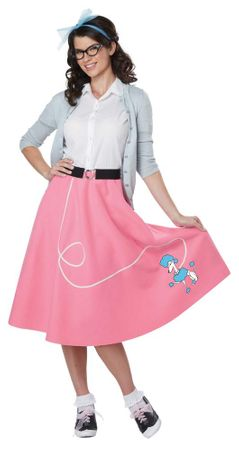 Economy Adult 50's Pink Poodle Skirt