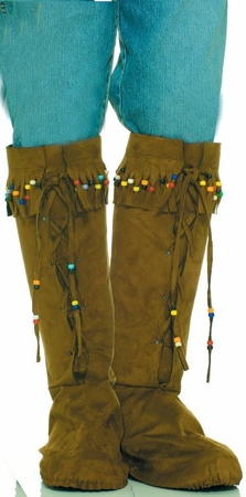Faux Suede Beaded Boot Covers