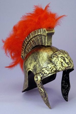 Feathered Roman Helmet - Gold or Silver