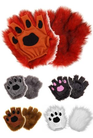 Fingerless Paw Gloves - More Colors
