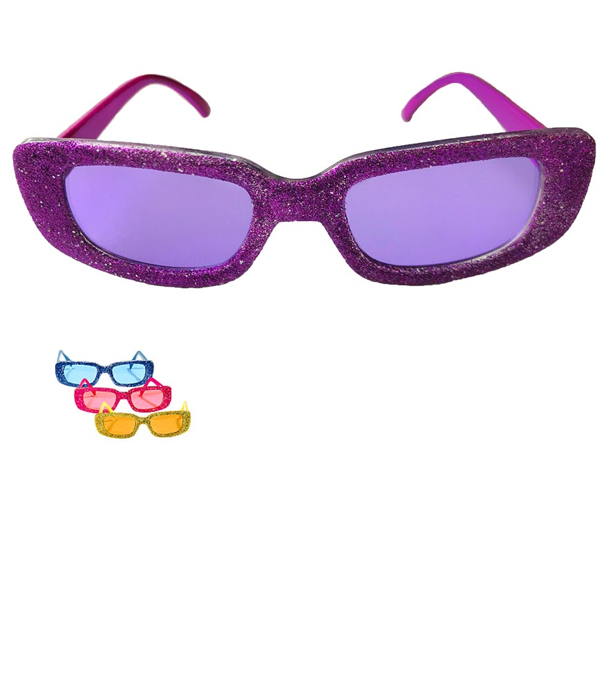 83af659dfda Funky Glitter Sunglasses - Candy Apple Costumes - 60 s Costumes