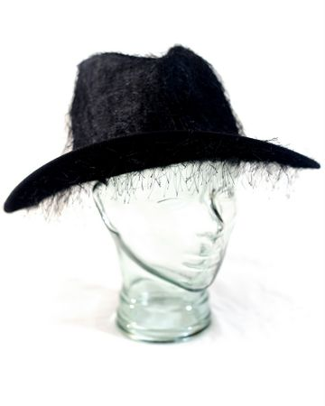 Fuzzy Black Cowboy Hat