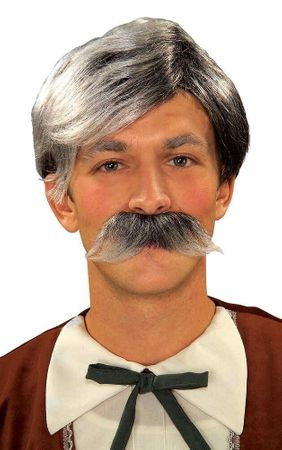 Geppetto Grey Wig and Mustache