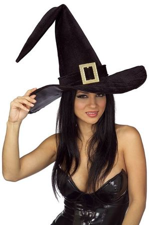Giant Black Witch Hat With Buckle