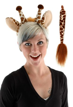 Giraffe Ears and Tail Costume Set