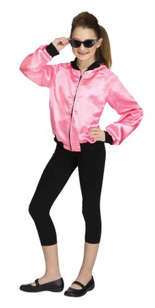 Girls' Pink 50s Rock 'N' Roll Jacket