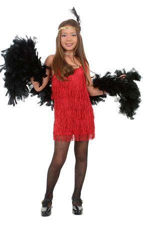 Child's Red Fringed Flapper Costume