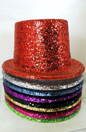 Glitter Top Hat - 8 Colors
