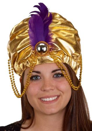 Gold Arabian Princess Turban