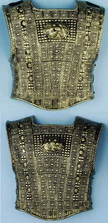 Gold/Black Studded Roman Armor