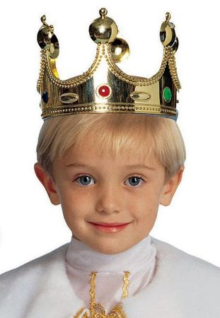 Gold Child's King Crown