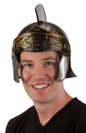 Gold Roman Helmet with Crest