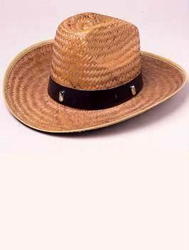 High Crown Straw Cowboy Hat