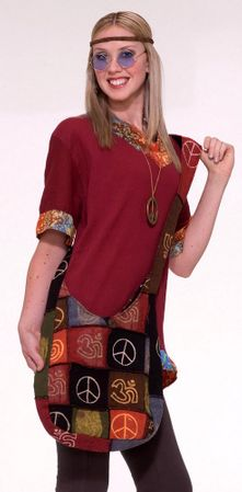 Hippie Peace Patchwork Handbag