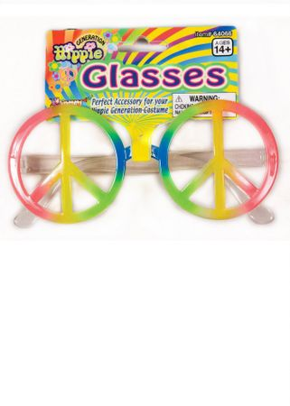 Hippie Rainbow Peace Sign Glasses