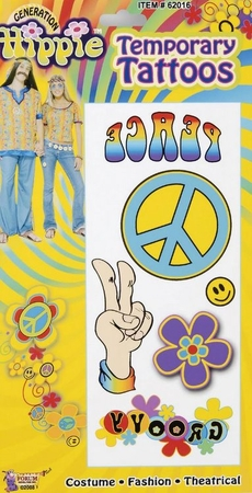 Hippie Temporary Tattoos
