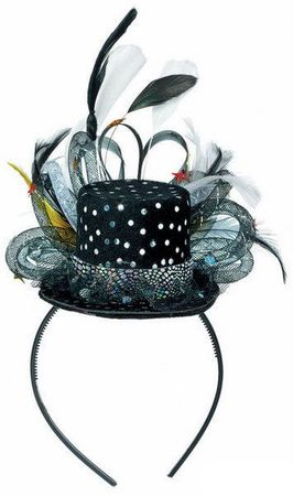 Hollywood Deluxe Mini Top Hat Hat Headband
