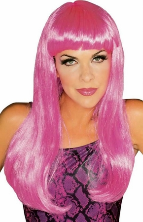 Hot Pink Glamour Wig