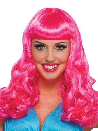 Hot Pink Party Girl Wig