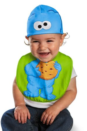Infant Cookie Monster Bib and Hat
