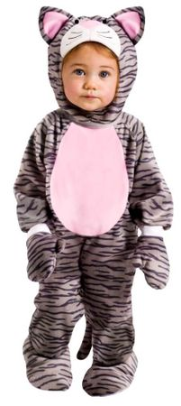 Infant/Toddler Gray Striped Kitten Costume