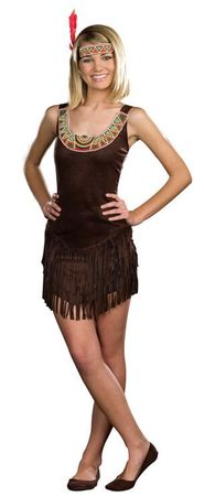 Junior Dreamgirl Tribal Beauty Indian Costume