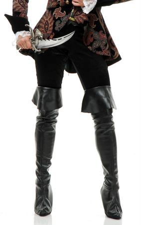 Pleather Thigh High Pirate Boot Covers