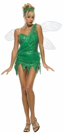 Leg Avenue Green Sequined Sprite Costume, Size Large