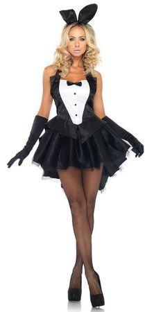 Leg Avenue Tux  Tails Bunny Sexy Adult Costume, Size S/M