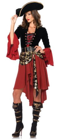 Leg Avenue Women's Cruel Seas Pirate Captain Costume