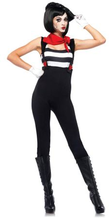 Leg Avenue Women's Marvelous Mime Sexy Costume, Size XL