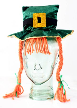 Leprechaun Hat Headband With Braids