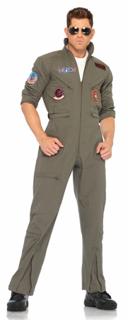 Licensed Top Gun Men's Flight Suit Adult Costume