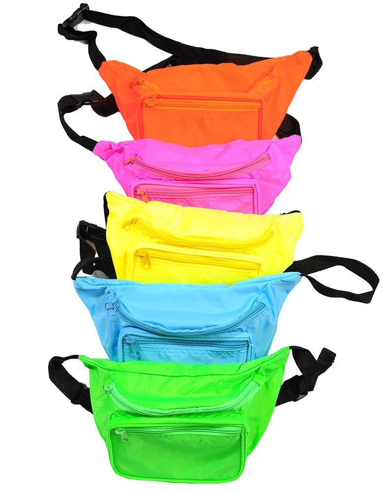 53f4a41adf00 Lightweight Neon 80's Fanny Pack