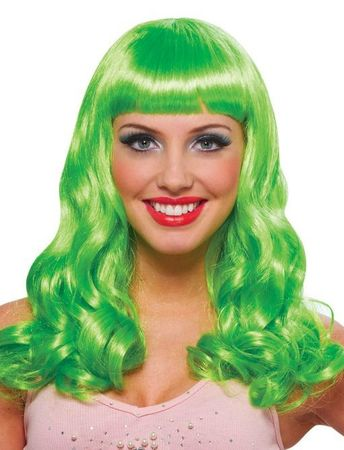 Lime Green Party Girl Wig