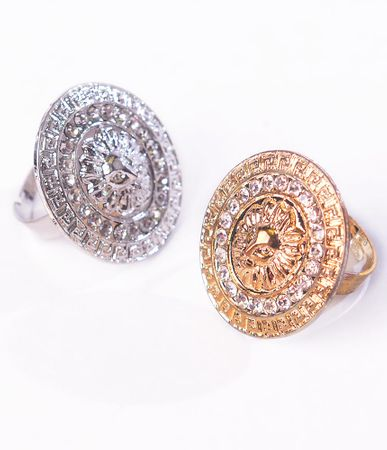 Lion Head Ring - Gold or Silver