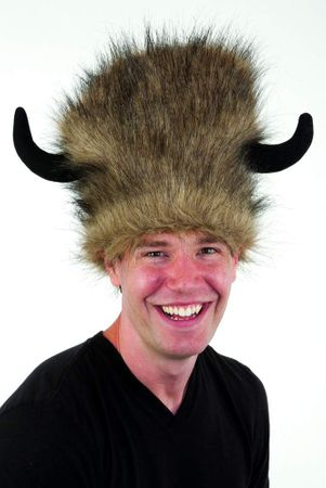 Lodge Hat With Black Horns
