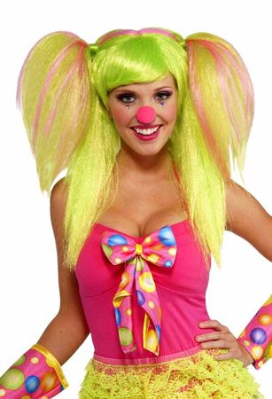 Lollipop Lily Green/Pink Wig