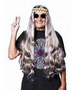 Long Gray Hippie Wig